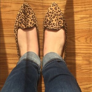 Cheetah pointed flats size 10